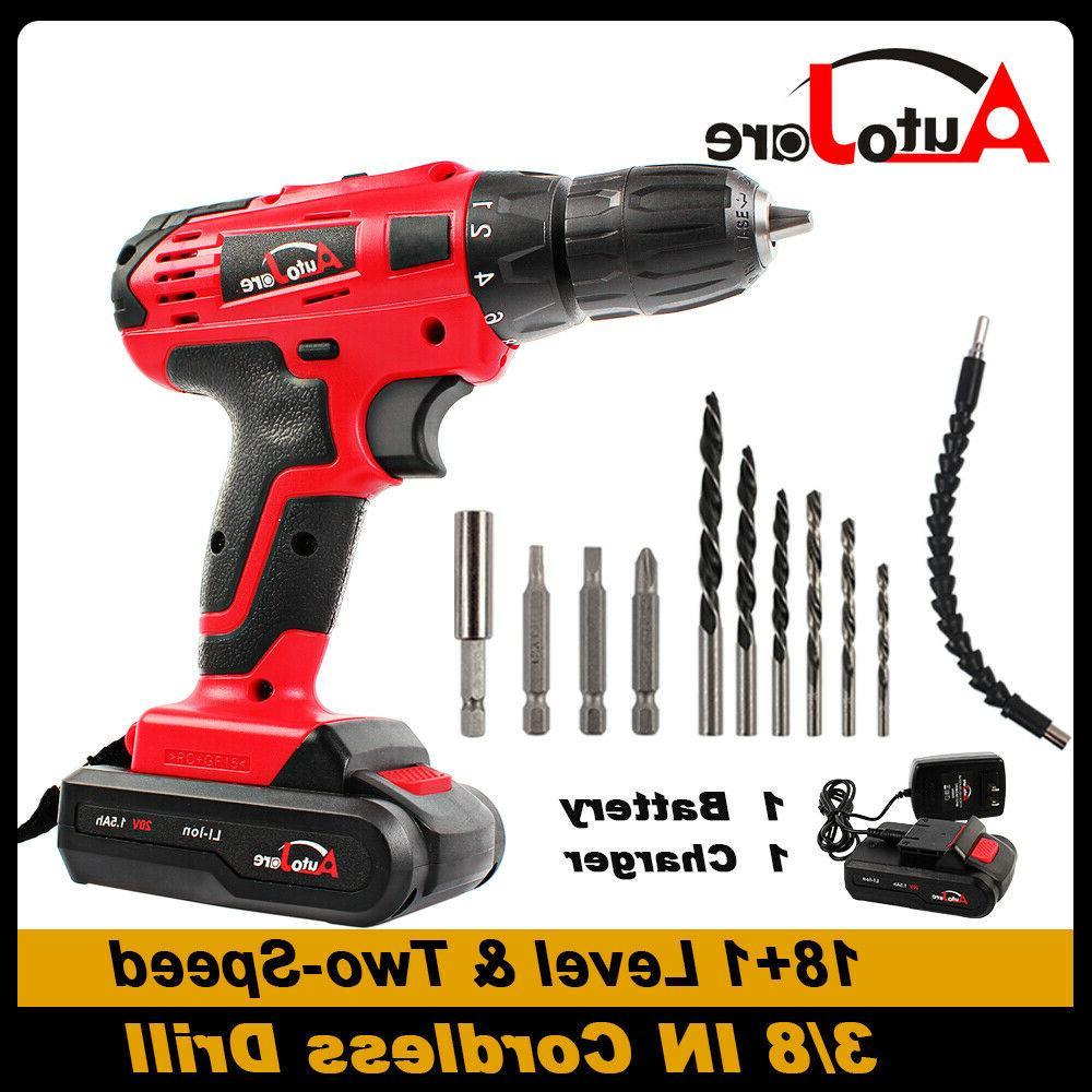 20V Drill Driver 2-speed Power Tool bit set