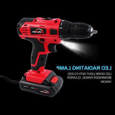 20V Max Powerful Cordless Drill Driver Li-Ion 3/8inch