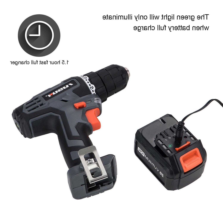 20V Cordless Drill/Driver Impact Set & 2.0Ah Battery