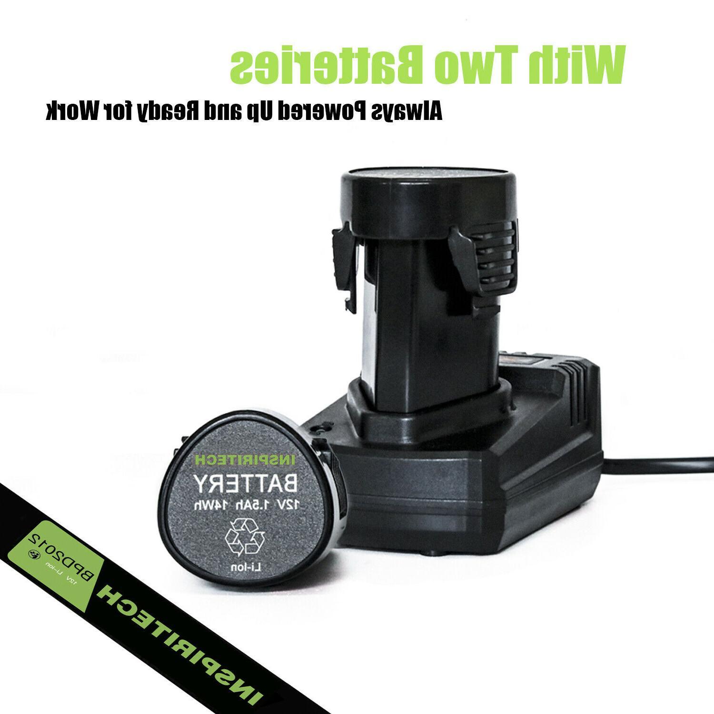 12-Volt Electric Cordless Bits 2 Batteries