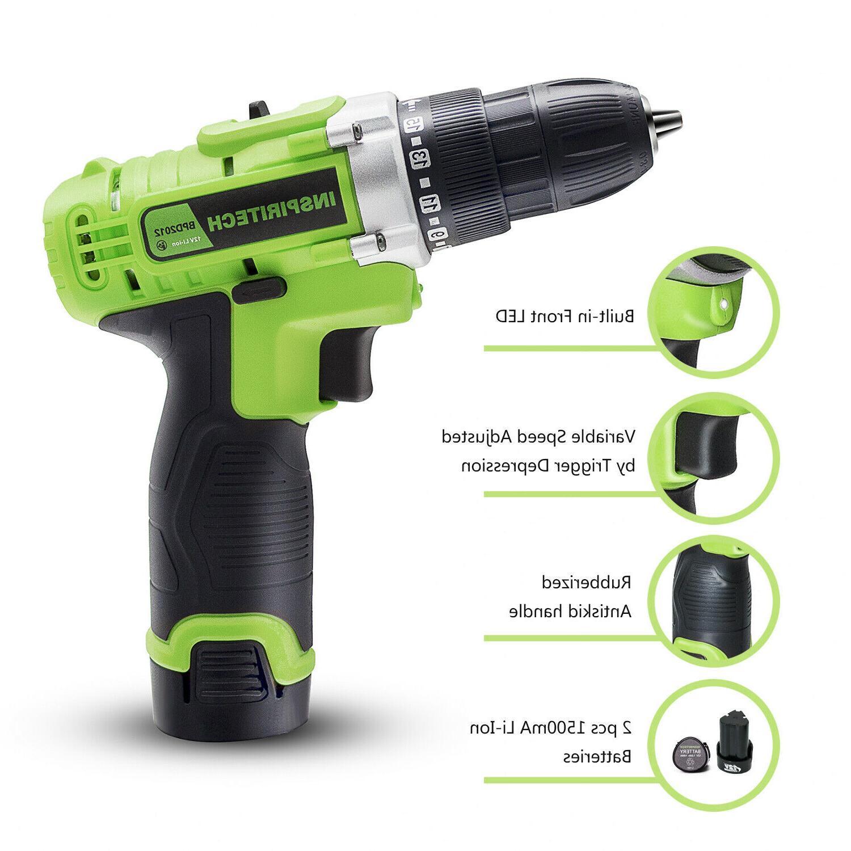 12-Volt drill Electric Cordless Bits Set 2