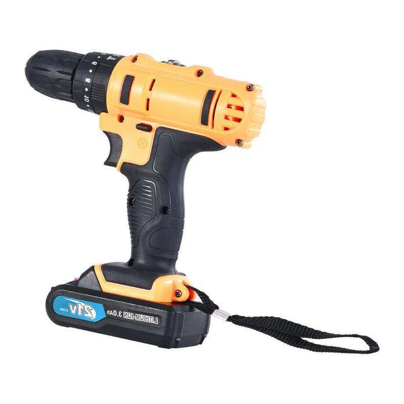 21-Volt drill 2 Electric Drill/Driver with Bits Set & Batteries