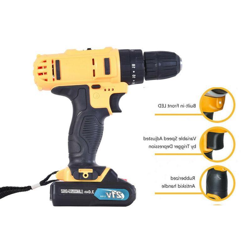 21-Volt drill 2 Electric Bits Set Batteries