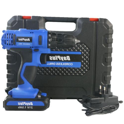 21-Volt drill 2 Electric Drill Driver Set & Battery