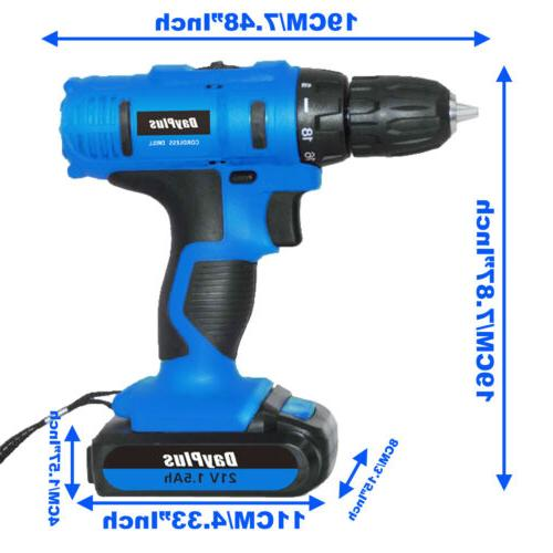 21-Volt drill Electric Cordless Driver with &
