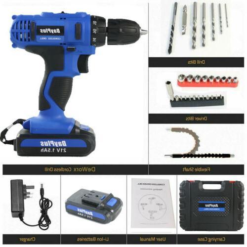 21-Volt drill Electric Driver Set