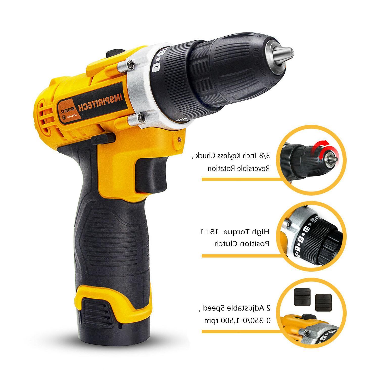 12-Volt drill Speed Electric Bits & 2 Batteries