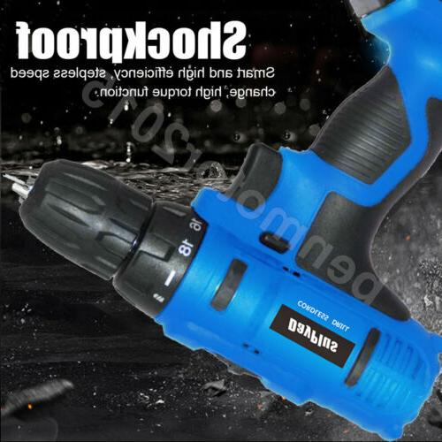 Portable Li-Ion Electric Driver Tool Repair Set