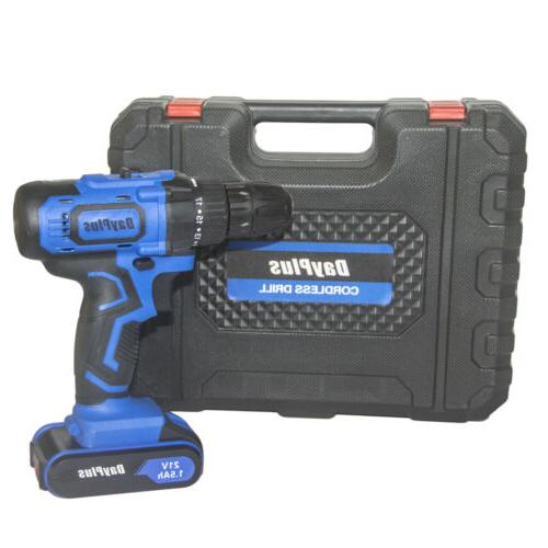 CORDLESS COMBI DRIVER WITH BITS SET