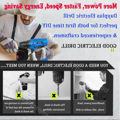 Portable Cordless Electric Driver Tool Repair Set 21V Voltage