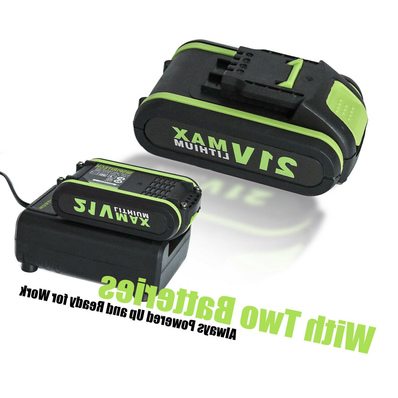 21-Volt 2 Electric Cordless Batteries
