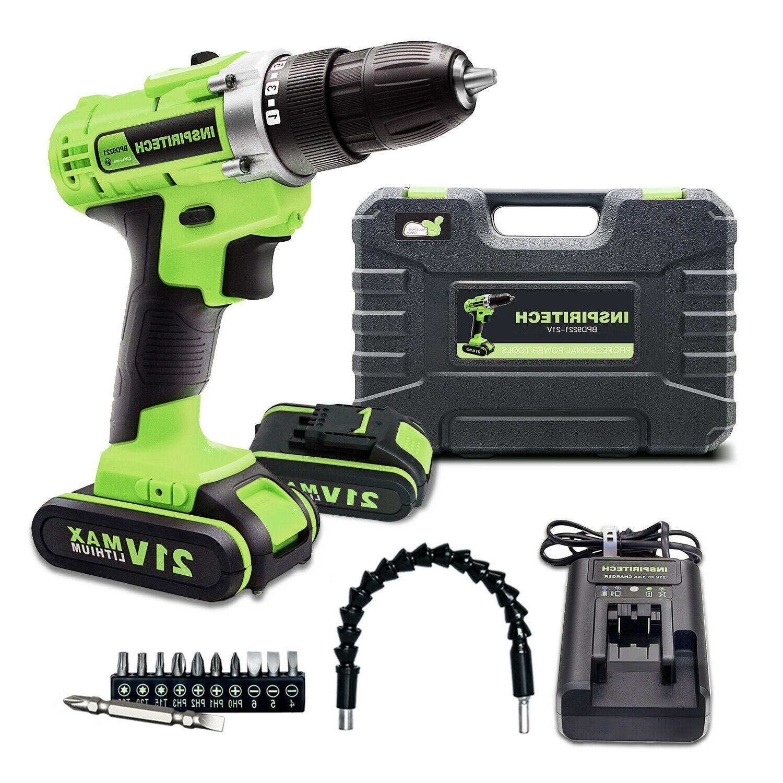 21 volt max batteries drill 2 speed