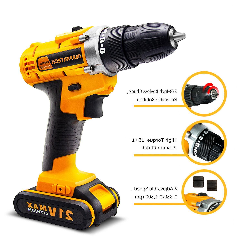21-Volt drill Electric Cordless Drill/Driver Bits Batteries