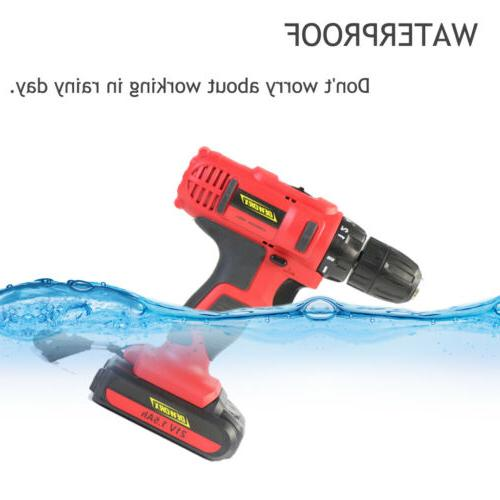 21V Drill Driver Set Combi Screwdriver USA Charger + Case