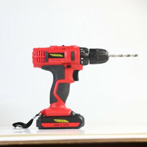 21V Electric Cordless Mini Screwdriver Drill Li-ion