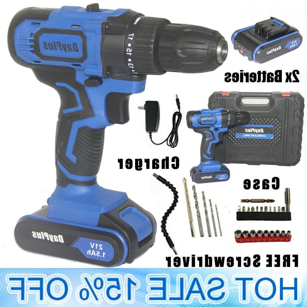 21v 21 volt cordless drill 2 speed