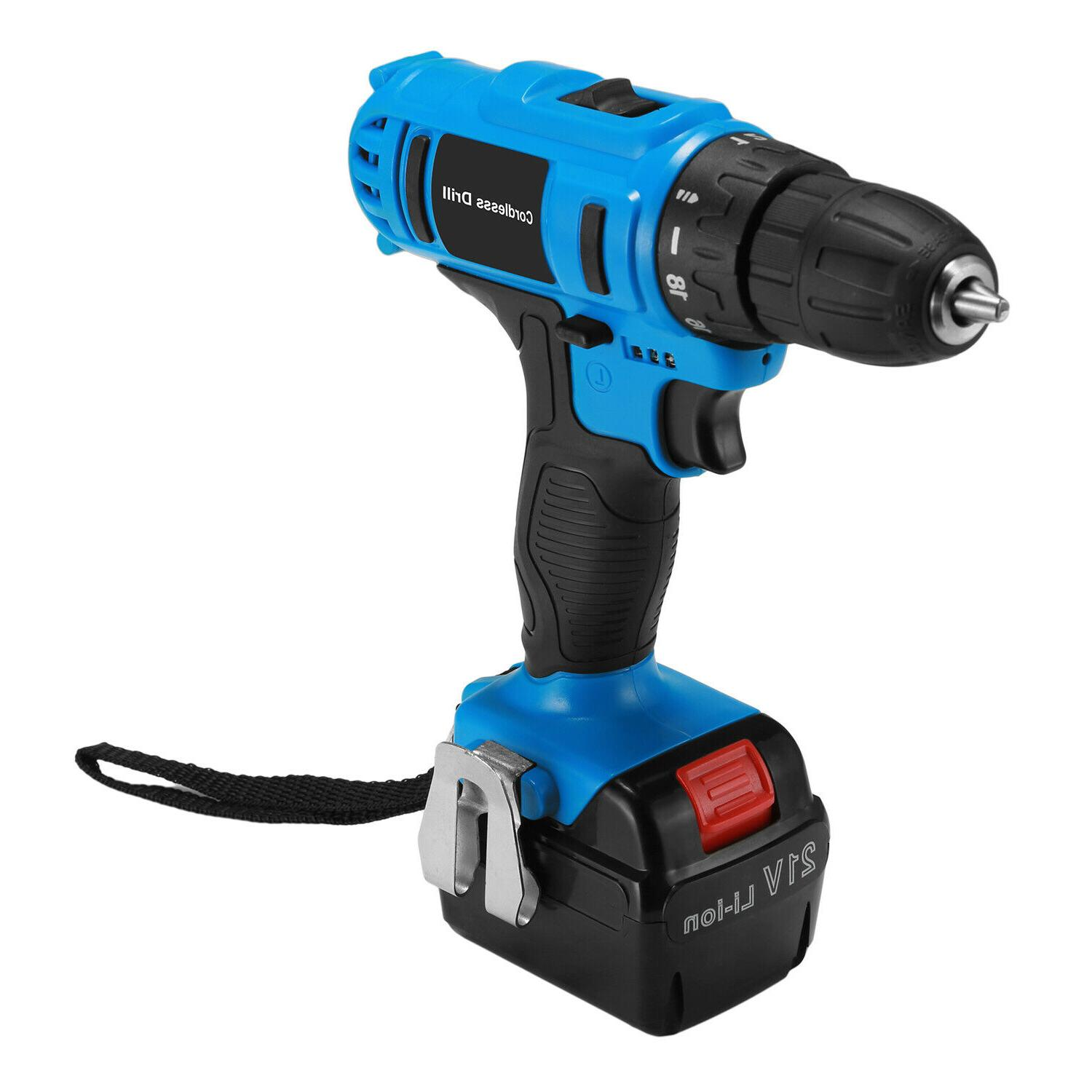 21V Cordless Kit Driver Drill Charger Workshop battery