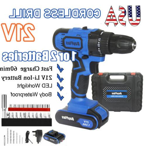 21v cordless drill driver 1 or 2battery