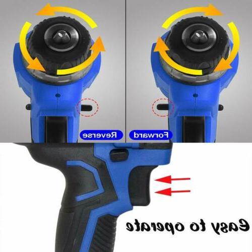 21-Volt drill Electric Cordless Drill Driver Set &