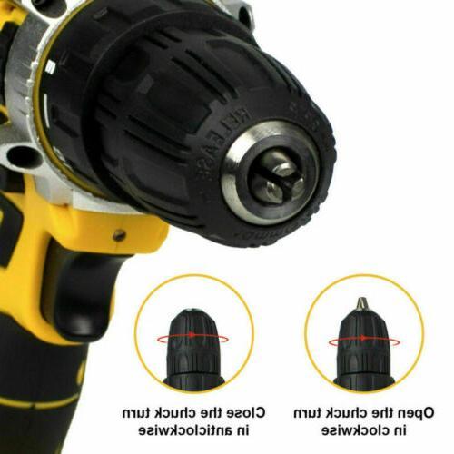 21V Cordless Drill Screwdriver 30pcs Kit+Battery&Charger