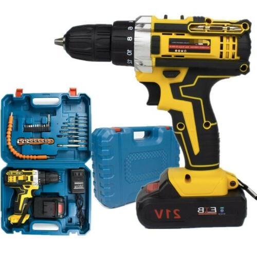 21V Cordless Screwdriver Kit+Battery&Charger