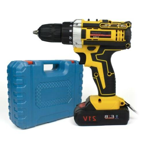 Screwdriver 30pcs Drill Kit+Battery&Charger