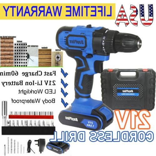 21v cordless drill electric screwdriver wireless power