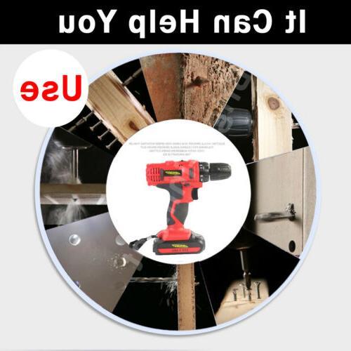 Cordless Electric Drill 1500mAh Li-ion Battery Home DIY