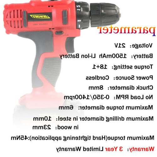 Cordless Electric Li-ion Powered DIY 21V+Accessories