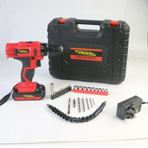 21V Electric Cordless Dual-speed Screwdriver Power Driver Drill