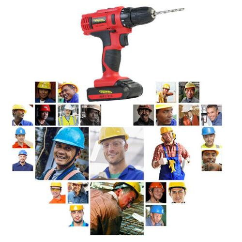 21V Electric Cordless Drill Dual-speed Screwdriver Driver Drill