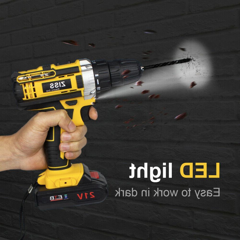 21-Volt drill Electric Drill Driver Bits Set &