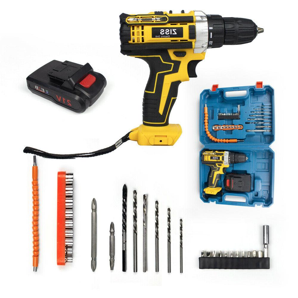 21-Volt drill Electric Cordless Driver & Battery