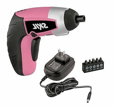 SKIL 2354-06 iXO Power Screwdriver with 5-piece Bit Set Pink