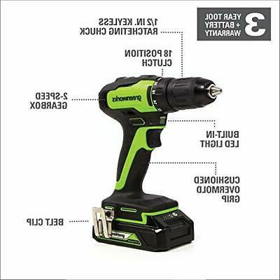 Greenworks in. Drill Tool