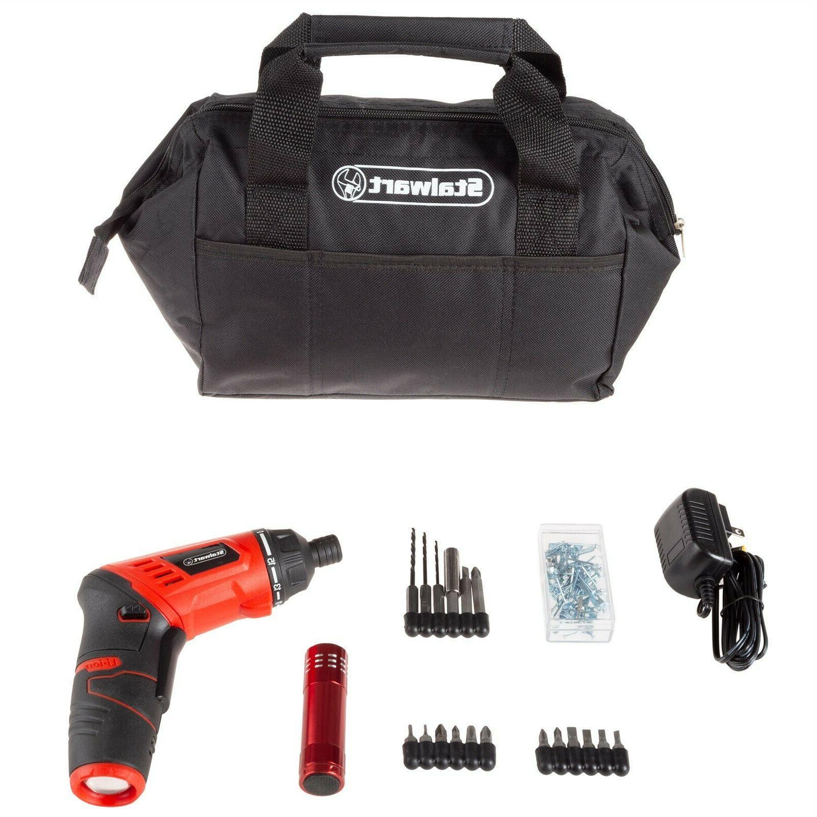 3 6v cordless screwdriver set tool bag