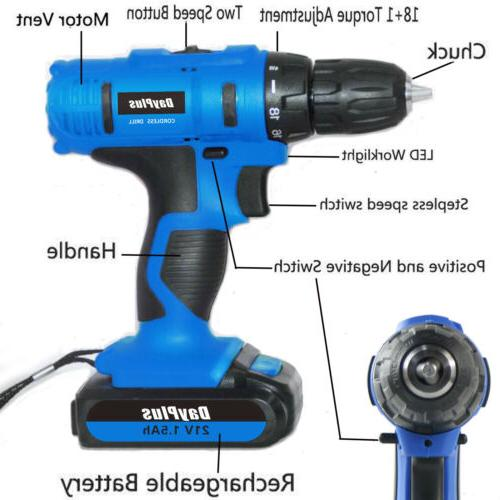 "3/8"" cordless drill and workshop"