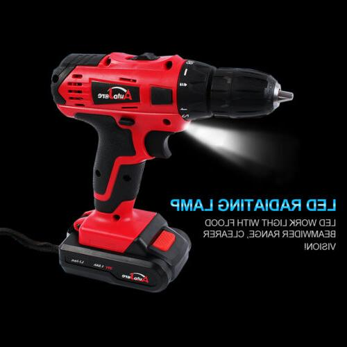 20-Volt 2 Electric Cordless Driver with Bits &