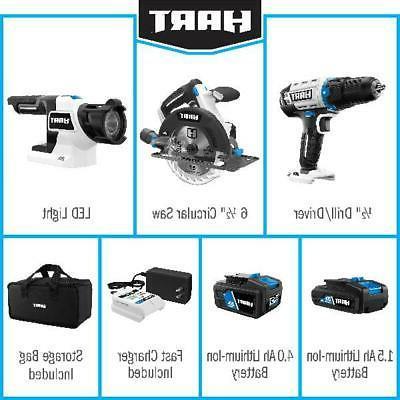 3-Tool Cordless Circular Saw, Drill,