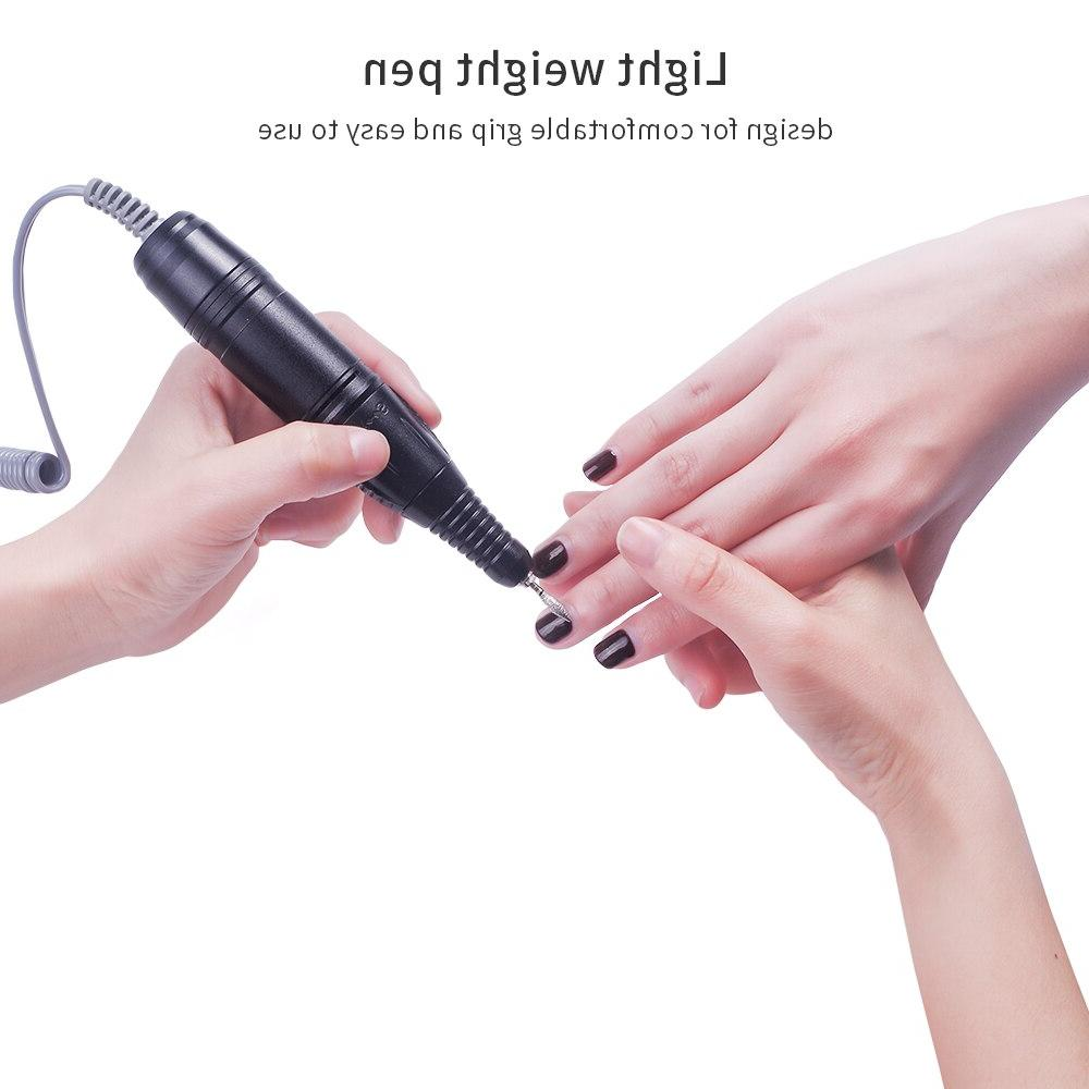 foreverlily <font><b>Drill</b></font> Rechargeable Manicure Bits Pedicure Equipment
