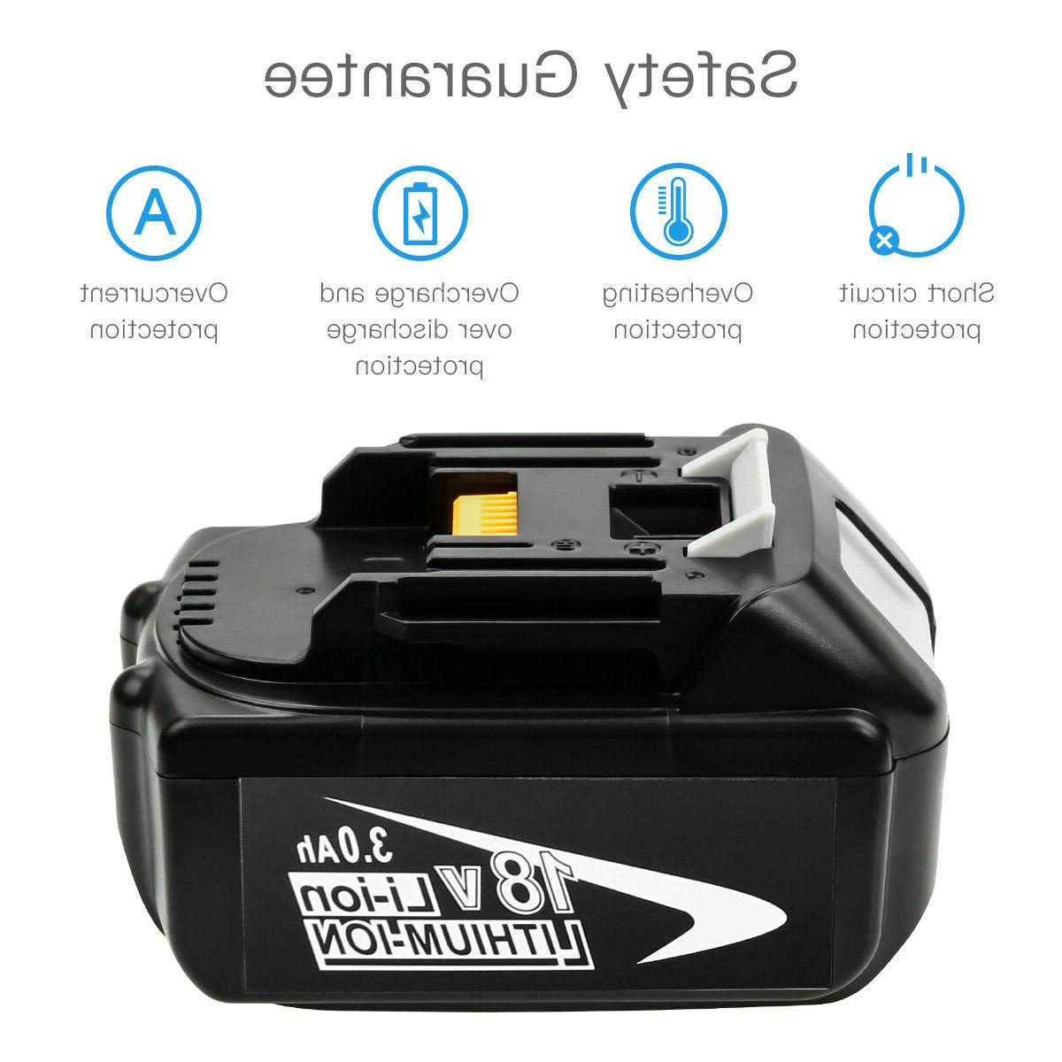 3000mAH Replace 18V Battery BL1830