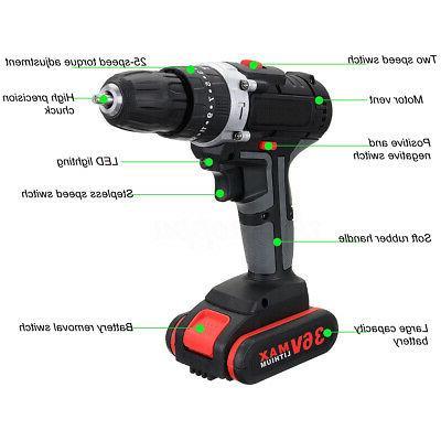 36V Cordless Drill Impac 25 Worklight & Li-ion