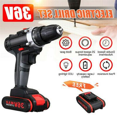 36v cordless drill double impac 25 speed