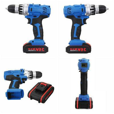 36V Cordless Driver Set Screwdriver with