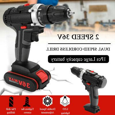 36v electric impact cordless drill wireless rechargeable