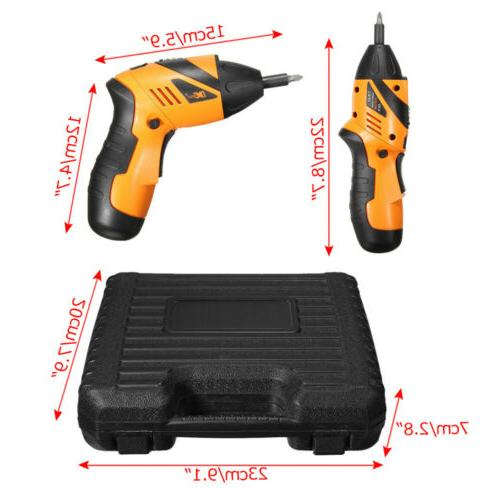 45 1 Tool Rechargeable Cordless Screwdriver Drill Kit