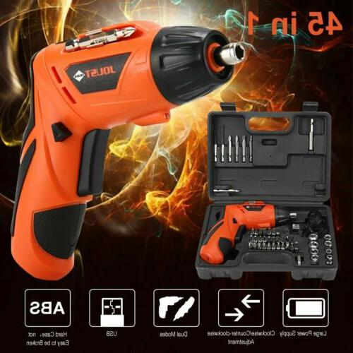 45 in 1 Rechargeable Wireless Drill Kit Power