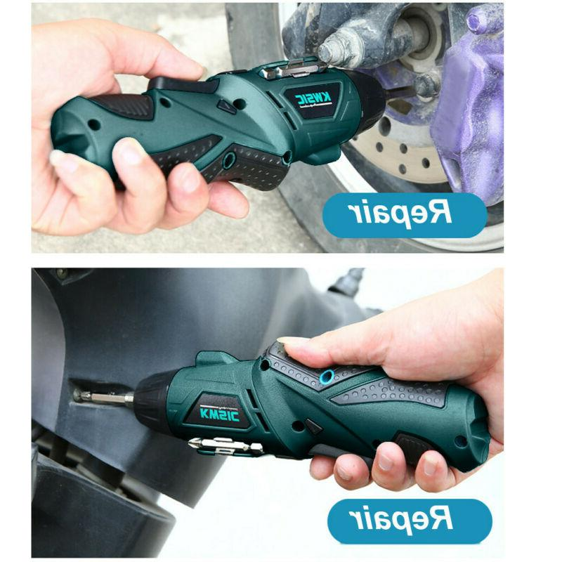 45 in Rechargeable Wireless Cordless Screwdriver Drill Kit Power
