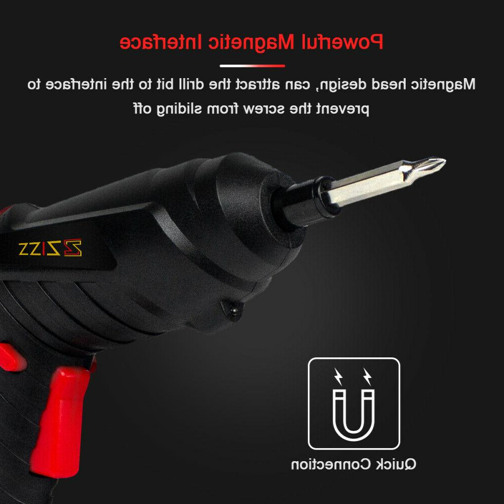 48 in Wireless Cordless Screwdriver Drill Set Tool