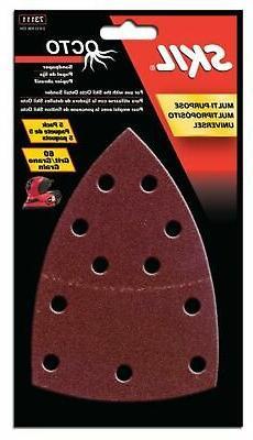 SKIL 73111 Octo Sandpaper 60 Grit - 5 Pack New